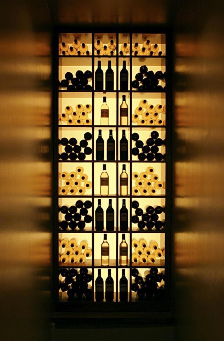 back lit wine