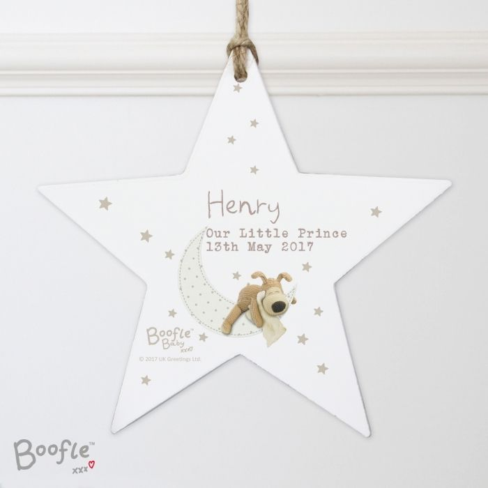 76 best personalised baby gifts images on pinterest our personalised boofle baby wooden star decoration would make an excellent hanging decoration for the home negle Image collections