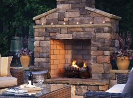 Outdoor Shower With Fire Place   Outdoor Fireplaces, Modular Fireplace Kits  Stone Fireplaces Outdoor .