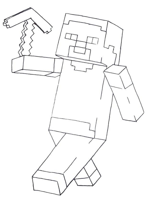 Minecraft Axe Coloring Page Minecraft Pickaxe Drawing At Getdrawings Of Minecraft Axe Col Minecraft Coloring Pages Coloring Pages For Boys Minecraft Printables