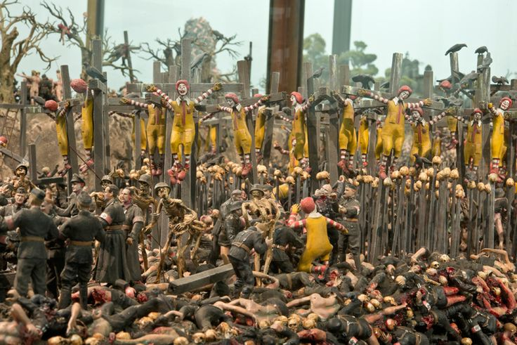 the pinchukartcentre in kiev presents first solo exhibition of jake and dinos chapmanin ukraine titled 'chicken'.