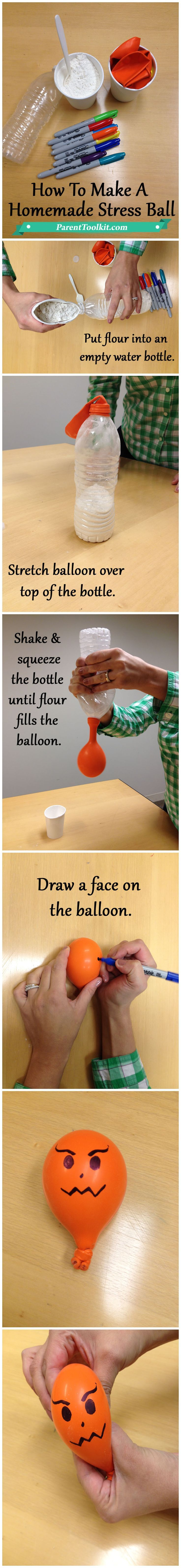 Help your child manage their stress by making homemade stress balls.