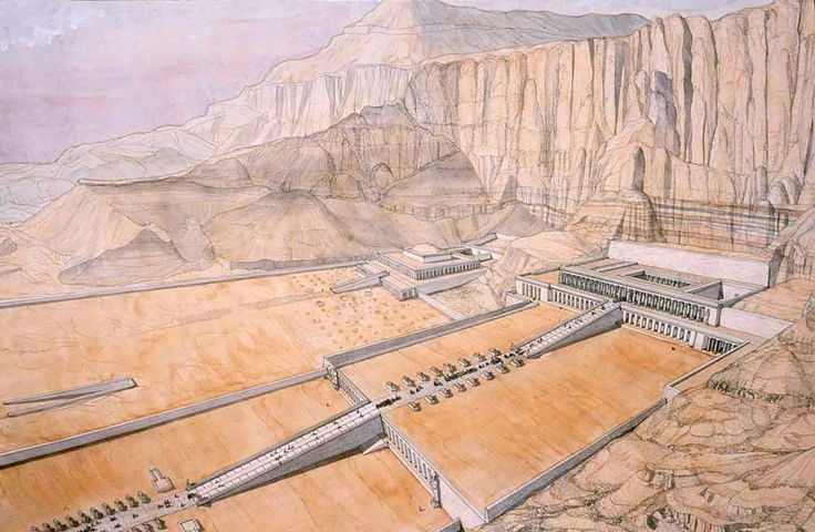 Égypte - Thèbes - Deir el-Bahari - Temple d'Hatchepsout