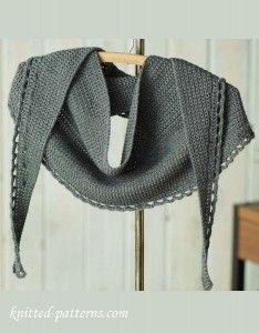 Crochet shawlette pattern free