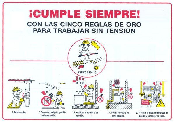 Las 5 Reglas De Oro Frente A Riesgos Eléctricos A Golpe De Guitarra 5 Reglas De Oro Reglas De Seguridad Higiene Y Seguridad En El Trabajo