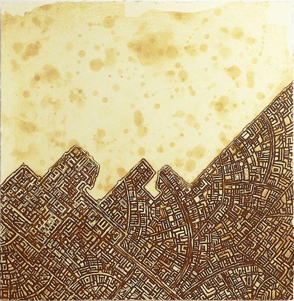 Antique etching Artist Sandi Rigby
