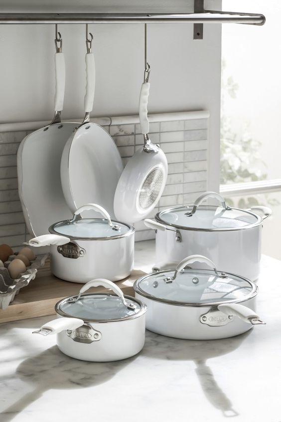 Bella 11-pc. nonstick ceramic cookware set