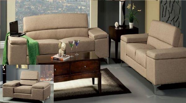 New modern 2 pc sofa set