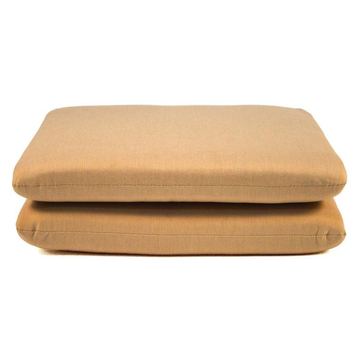 Casual Cushion Sunbrella Outdoor Seat Pad - Set of 2 Spectrum Sand - DS2801-3277 2PK