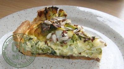 Brokkolis-hagymás lepény (CH-diéta)