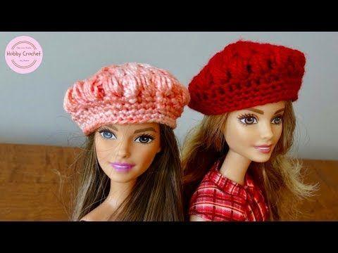 Boina punto puff a crochet para la Barbie, paso a paso - YouTube