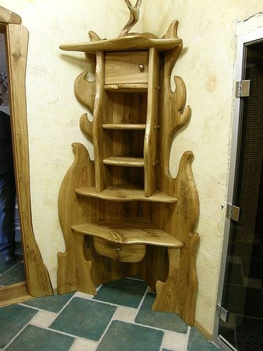 Wood Shelves (32) by Nature form furniture, via Flickr