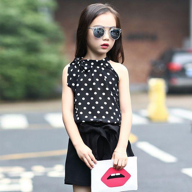 Новинка 2017 года Лидер продаж одежда для девочек комплект блузка без рукавов и Брюки для девочек для летняя одежда для маленьких девочек одежда для детей 2 предмета, одежда для малышей купить на AliExpress