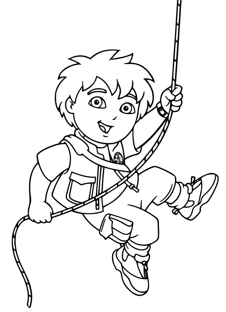 12 best go diego go  coloring pages images on pinterest