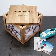 Personalised Family Memories Photo Box