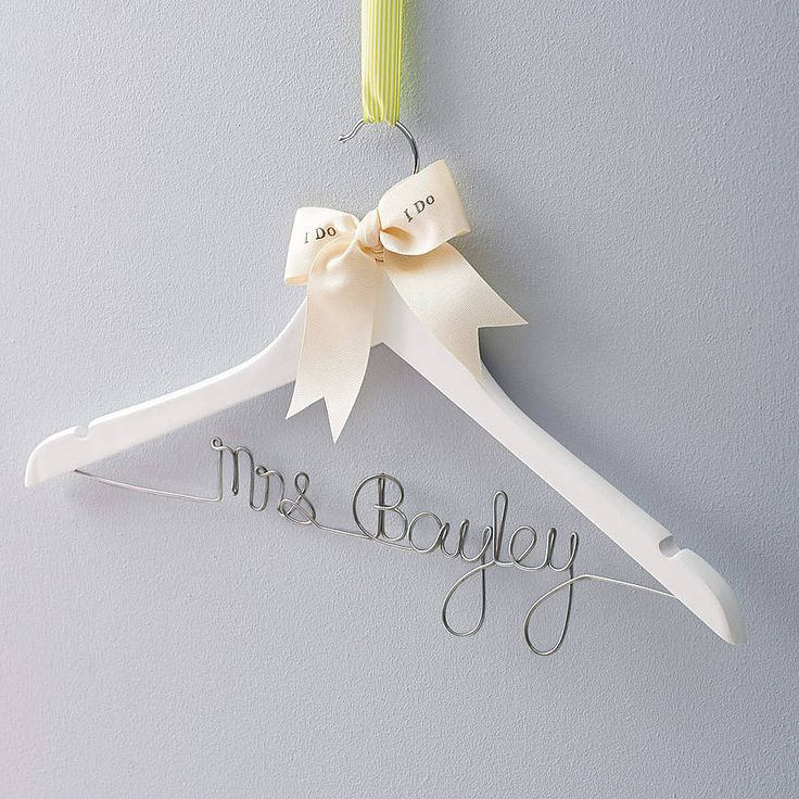 personalised wedding dress hanger by clouds and currents | notonthehighstreet.com