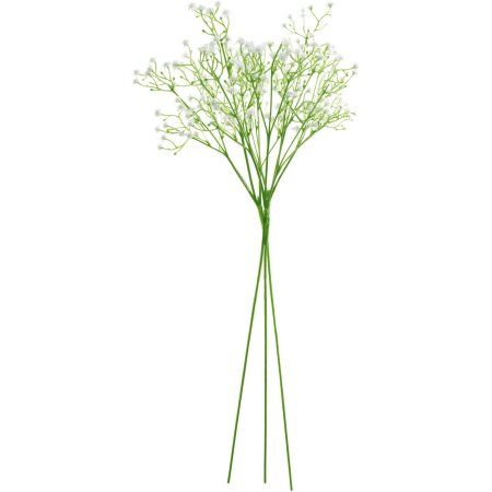 Aleko 3FL001 Artificial Baby Breath Gypsophila Flower Home Decor, White, Set of 3, Multicolor