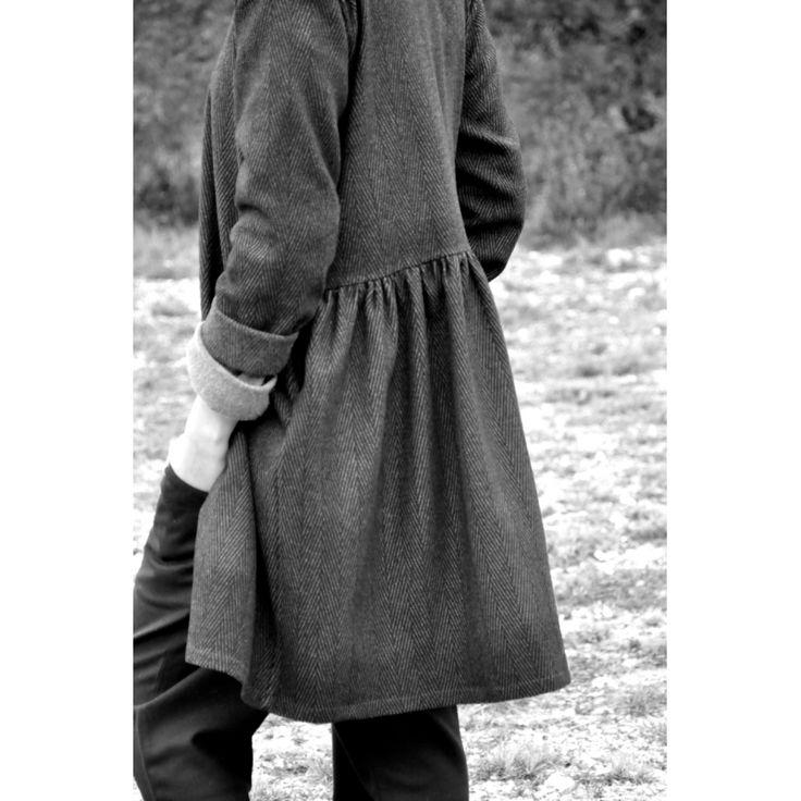 Robe-chemise, drap chevron - Le Vestiaire de Jeanne SARL