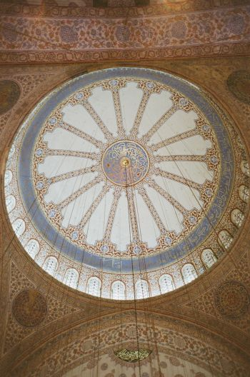 The intricate & beautiful ceiling of the Blue Mosque in #Istanbul. #Turkey #travel