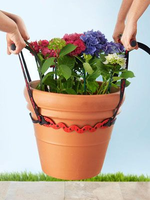 This space-saving PotLifter will help you move large, awkward objects around the yard, including rocks, mulch, and planters.  #pottedgarden