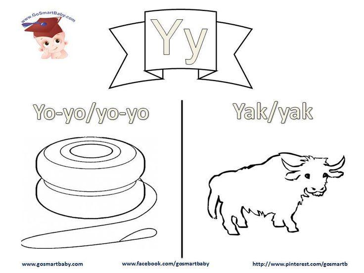 Smart Baby - Coloring the alphabet - letter Y y