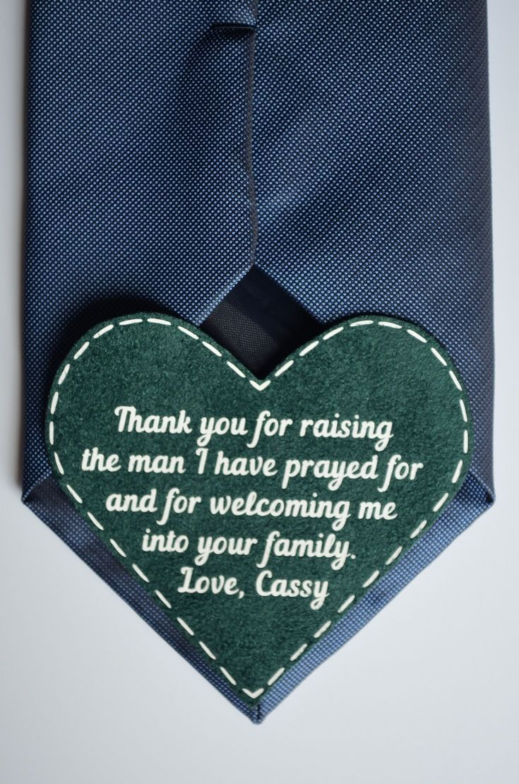 the bride for father in law tie patch