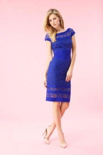 #blue #cocktail #lace #dress #tadashishoji