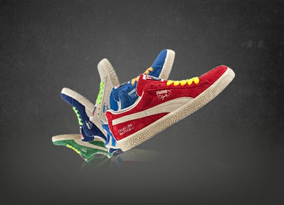 Limited Edition F & M Puma #Clyde #sneakers. On sale only on www.franklinandmarshall.com
