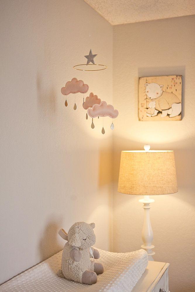 Soft Peach and Gray Nursery | The Little Umbrella