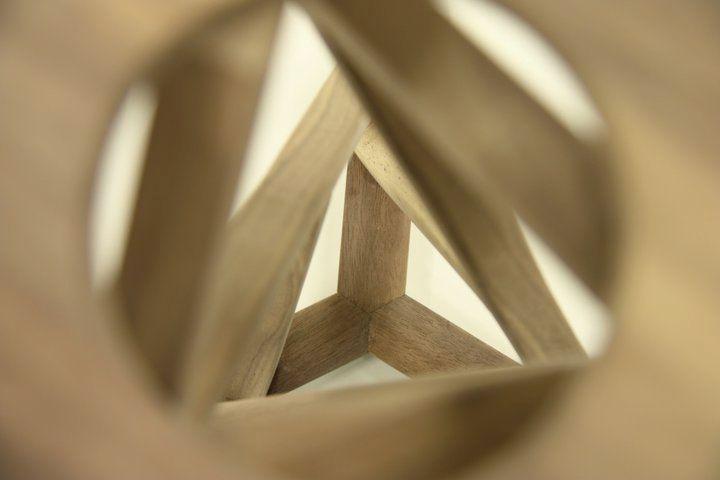 """Twist"" stool from above - by Caroline Langfeldt Carlsen"