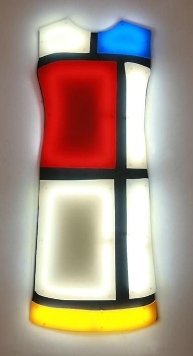 """YSL Neon Robes"" light art series by Nicolas Saint Grégoire."