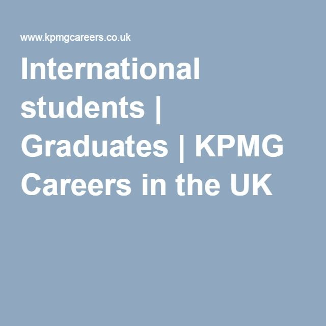 International students | Graduates | KPMG Careers in the UK