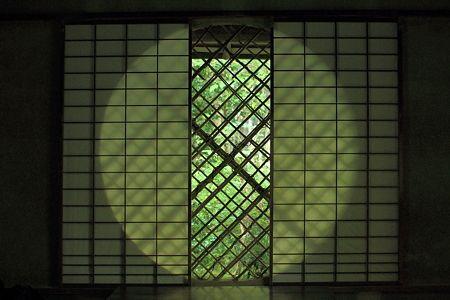 京都・祇王寺の吉野窓 Giouji, Kyoto