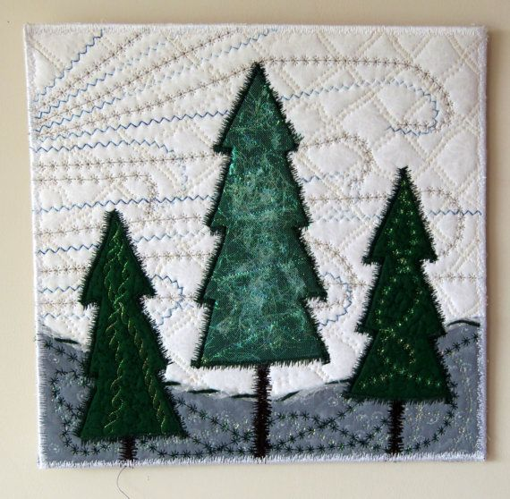 Wall Art Wall Decor Winter Wonderland Hanging by ClockworkRummage, $50.00