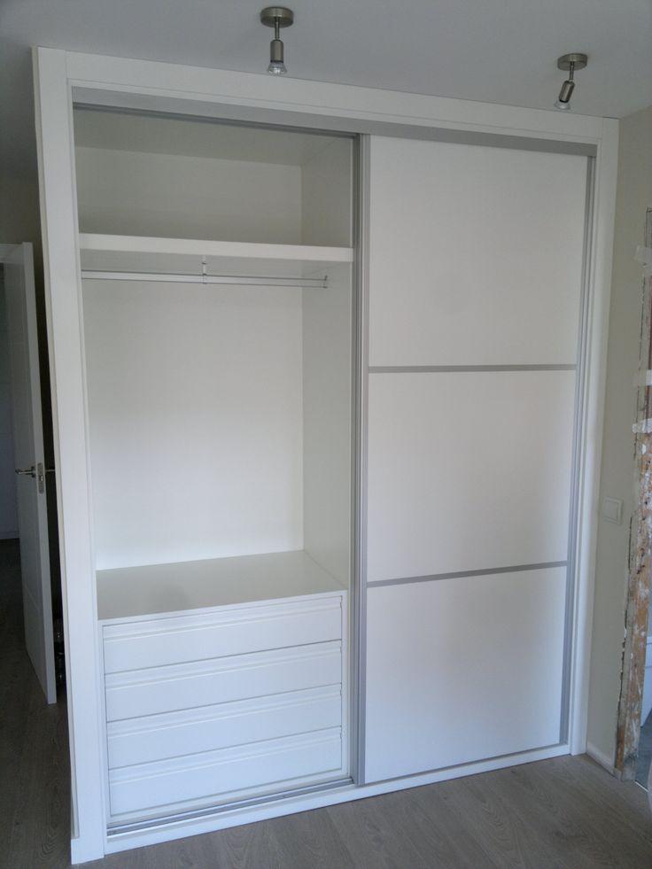 M s de 25 ideas incre bles sobre armarios con puertas - Marco puerta corredera ...