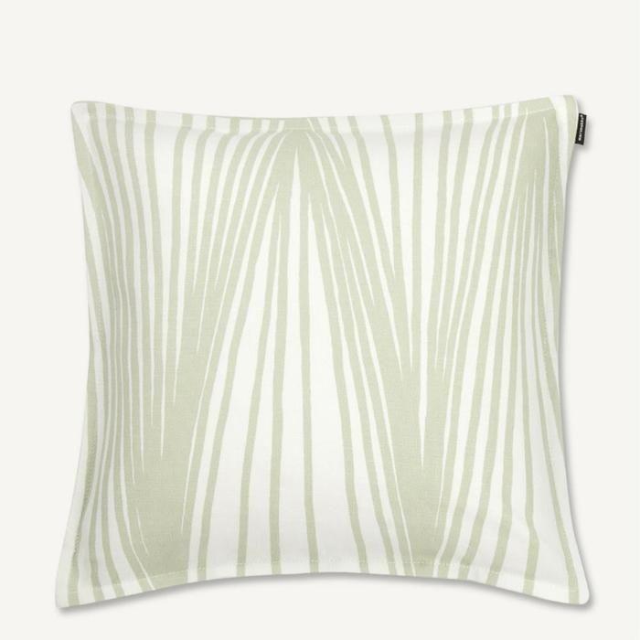 Viuhka Cushion Cover 40cm in white, green – Bolt of Cloth