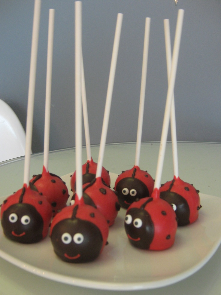 Ladybug cake pops...it's a possibility for a first birthday party!