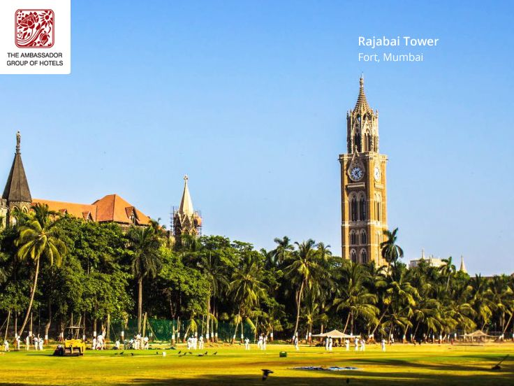 The #Rajabai #Clock #Tower is a clock tower in #South #Mumbai #India. It is located in the confines of the Fortcampus of the University of Mumbai. The tower stands at a #height of 85 m (280 ft). The foundation stone was laid on 1 March 1869 and construction was completed in November 1878. The total cost of construction came to 200,000, a princely sum in those days. You can enjoy Mumbai history while you staying with us at #Ambassador #hotels in Mumbai.  Visit our website…