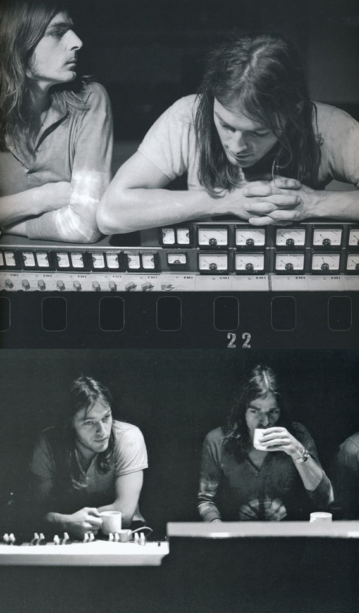 David Gilmour & Richard Wright during the recording of Atom Heart Mother.