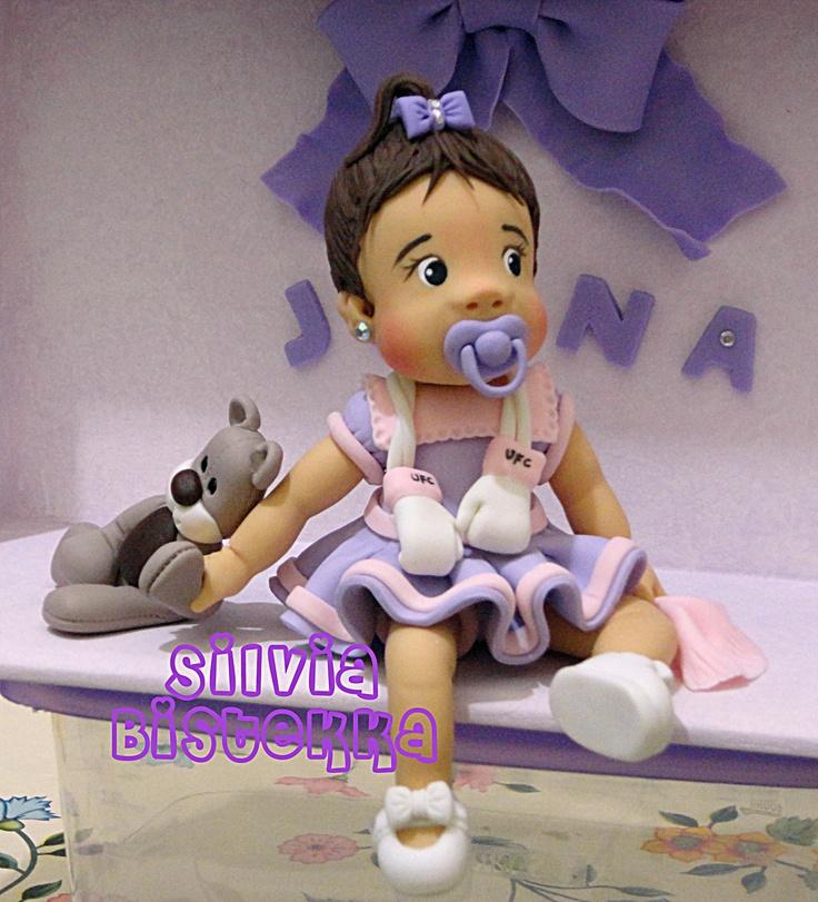 Joana (vitrine) P/Porta de maternidade  p/ filha do lutador da UFC José Aldo Junior e sua esposa.