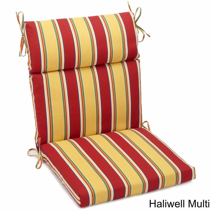 Blazing Needles Outdoor Three-Section Seat/Back Chair Cushion