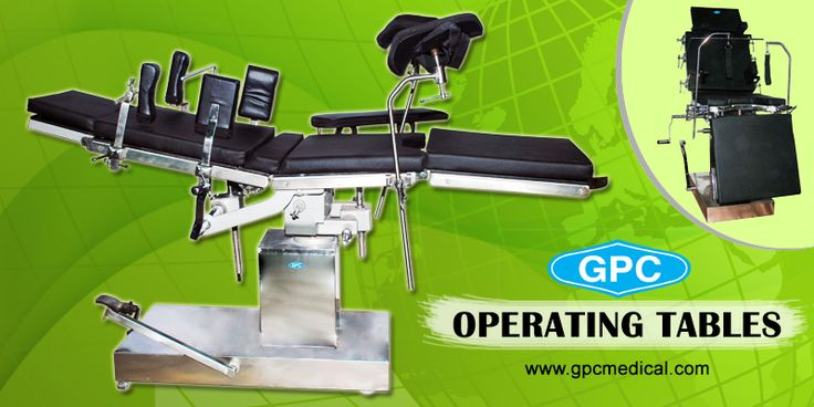 Operating Tables that Save Lives.  https://gpcmedicalequipment.wordpress.com/2017/02/03/operating-tables-that-save-lives/