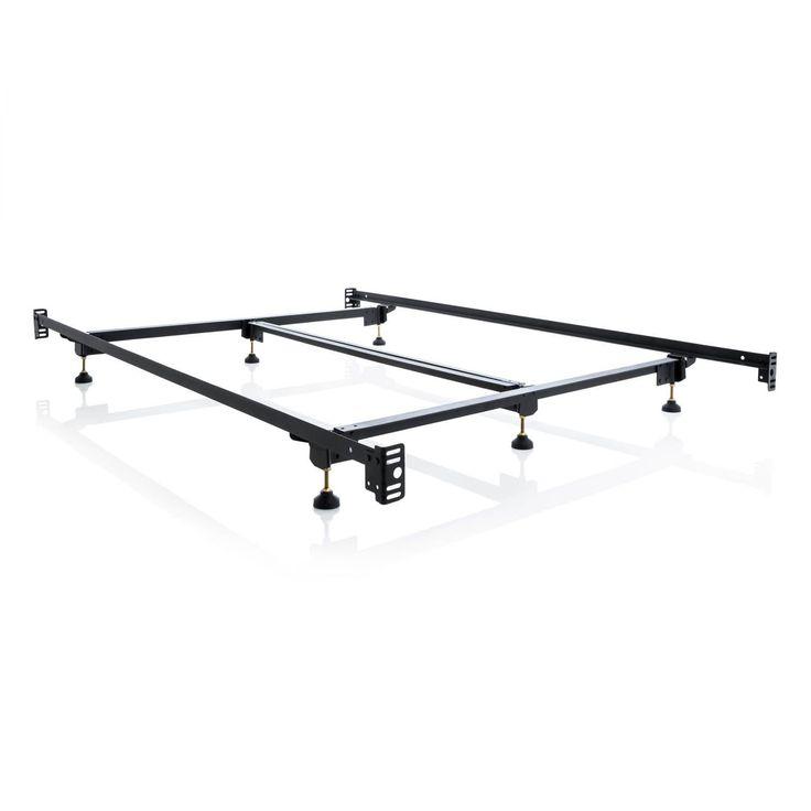 malouf structures steelock hook in headboard footboard heavy duty steel bed frame cal - Headboard And Bed Frame