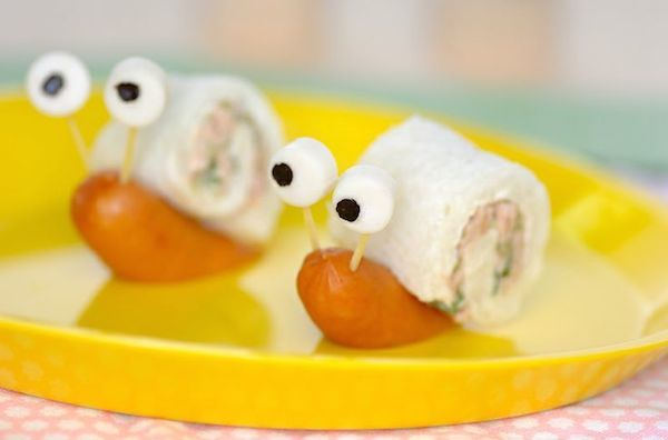 Sandwich snails: a total success in every birthday party!