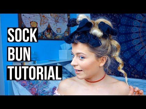 Heatless Curls! Sock Bun Tutorial | Ellesse - YouTube