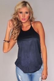 Wholesale Clubwear Tops,Cheap Halter Top Sexy Sleeved Top