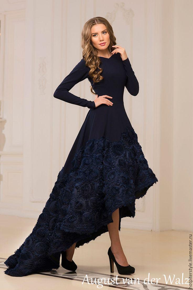 """""""Восторг"""" - однотонный, модное платье, хлопоковое платье, макси платье, платье в пол"""