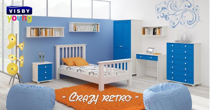 Kolekcja Crazy Retro #meble #mebledrewniane #drewniane #drewno #wood #łóżko #bed #sypialnia #bedroom #night #dreams #dream #poduszka #pillow #kołdra #materac #sweetdreams #sosna #pine #pościel #dom #home #mieszkanie #klasyka #mebleklasyczne #visby #onemarket