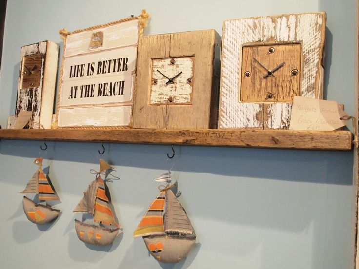 Beach Inspired collection from Designate products - Beach, sailing boats, boats, clocks, life is better at the beach, drift wood, timber