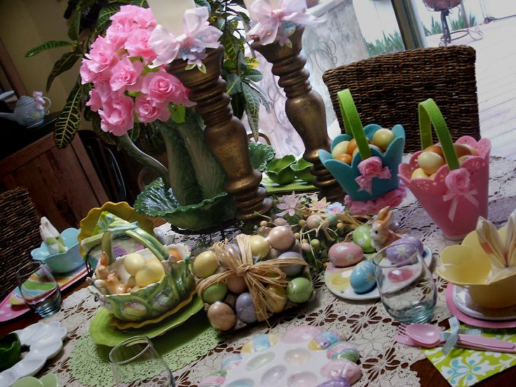 easter table settingBeautiful Tables, Originals, Tables Sets, Easter Hams, Easter Tables, Tables Easterham, Tables Decor, Easter Ideas, The Roller Coasters